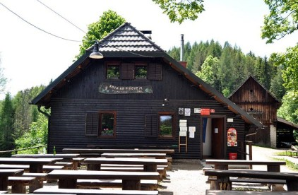 Koca na Pikoven - a small mountain hut serving food and drink, a short drive from Breg House