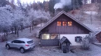 A frozen morning at Breg House