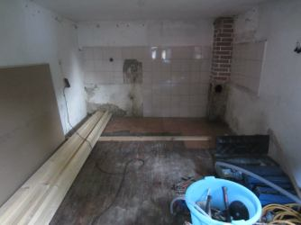We removed the kitchen completely