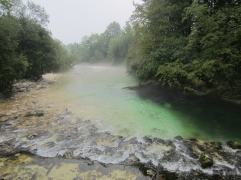 Mist rising off the Savica