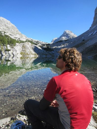 Clear and colourless waters of one of the 7 Lakes of Triglav