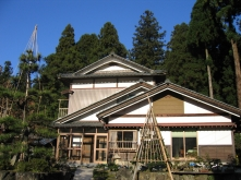 Typical house and garden in rural Japan (Fukui)