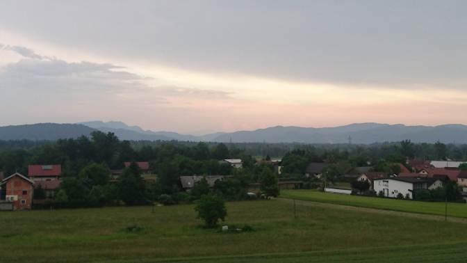 View from balcony, Ljubljana, Slovenia