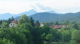 View from balcony, Ljubljana, Slovenia